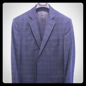 Brooks bros blue pattern suit